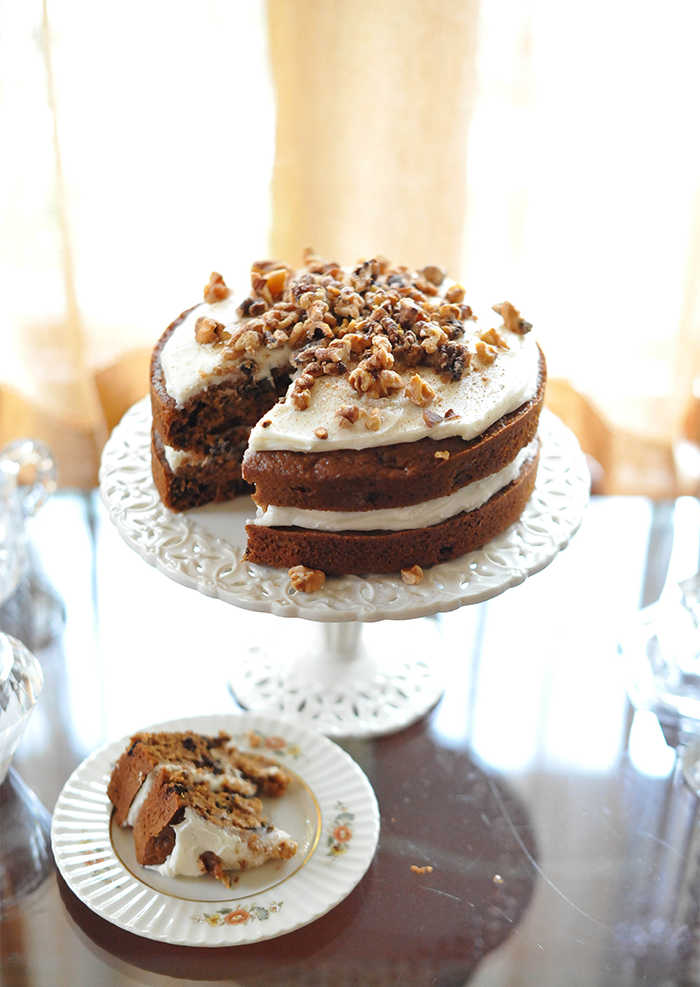 Walnut Spice Cake and Cream Cheese Frosting Recipe Autumn Pumpkin