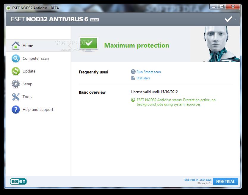 ����� ����� ������� ESET NOD32 Antivirus 5.2.9.1