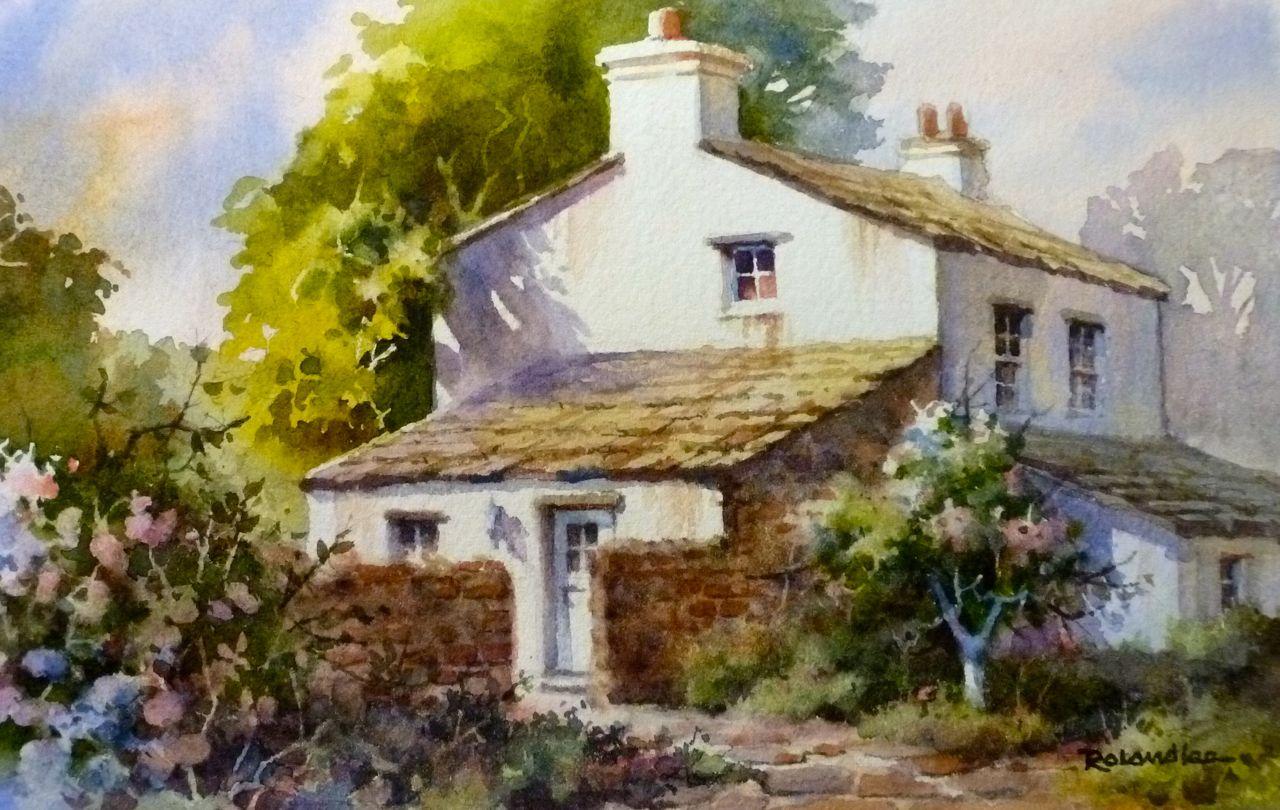 Roland lee travel sketchbook june 2013 for Watercolor cottages