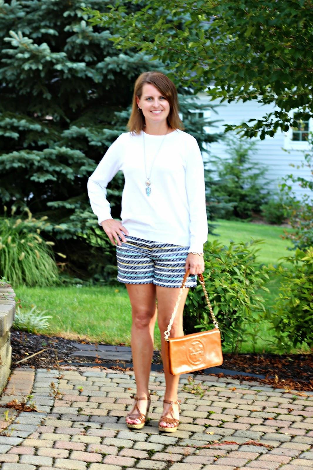 Light white J Crew sweater for late summer