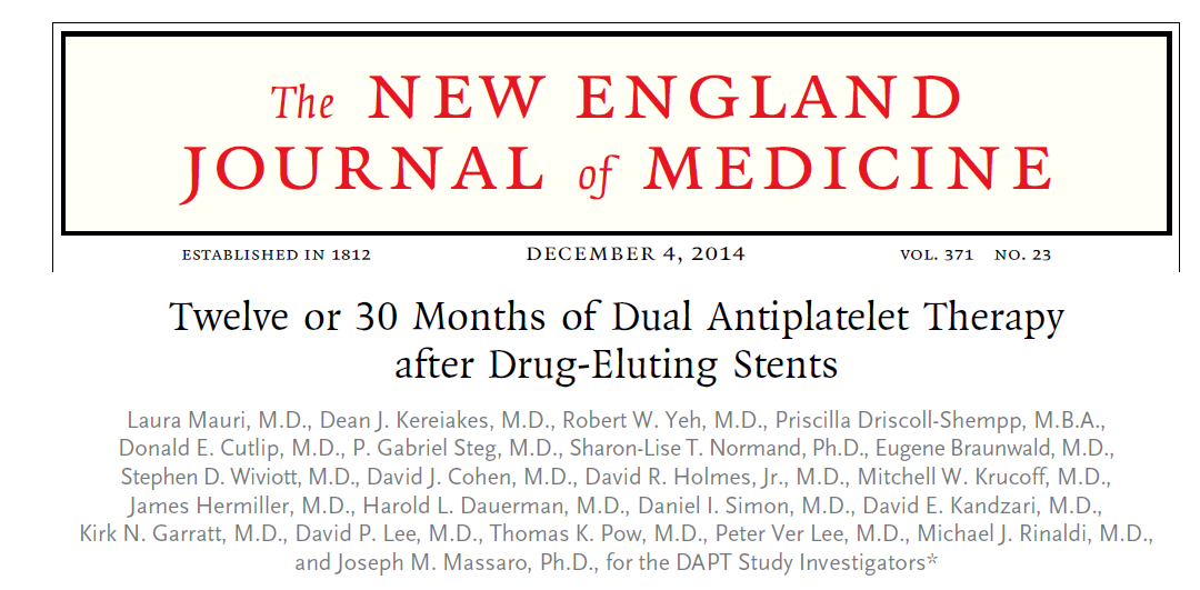 Twelve or 30 Months of Dual Antiplatelet Therapy after ...