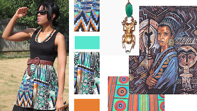 Tribal Art - Blogger Ethnic Skirt Prints