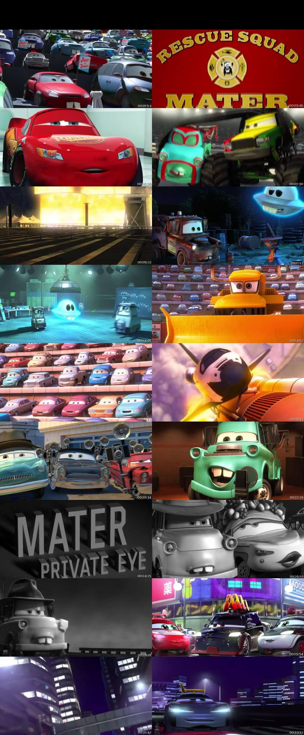 Screen Shot Of Cars Toons Mater's Tall Tales 2010 300MB Full Movie Hindi Dubbed Free Download 480P BRRip Small Size PC Movie