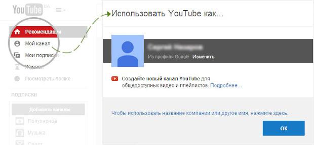 Создание личного (пользовательского) канала на YouTube