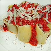 Pici Toscanos con cerdo y salsa de tomate
