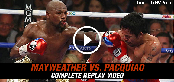 Manny Pacquiao vs. Floyd Mayweather Jr. (COMPLETE REPLAY VIDEO)