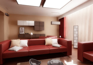 Red and White Living Room Designs7