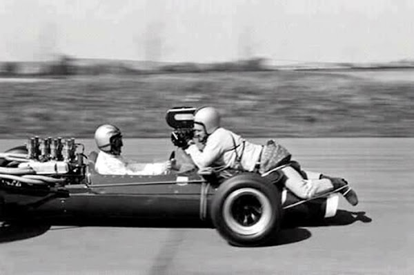 Filming race driver