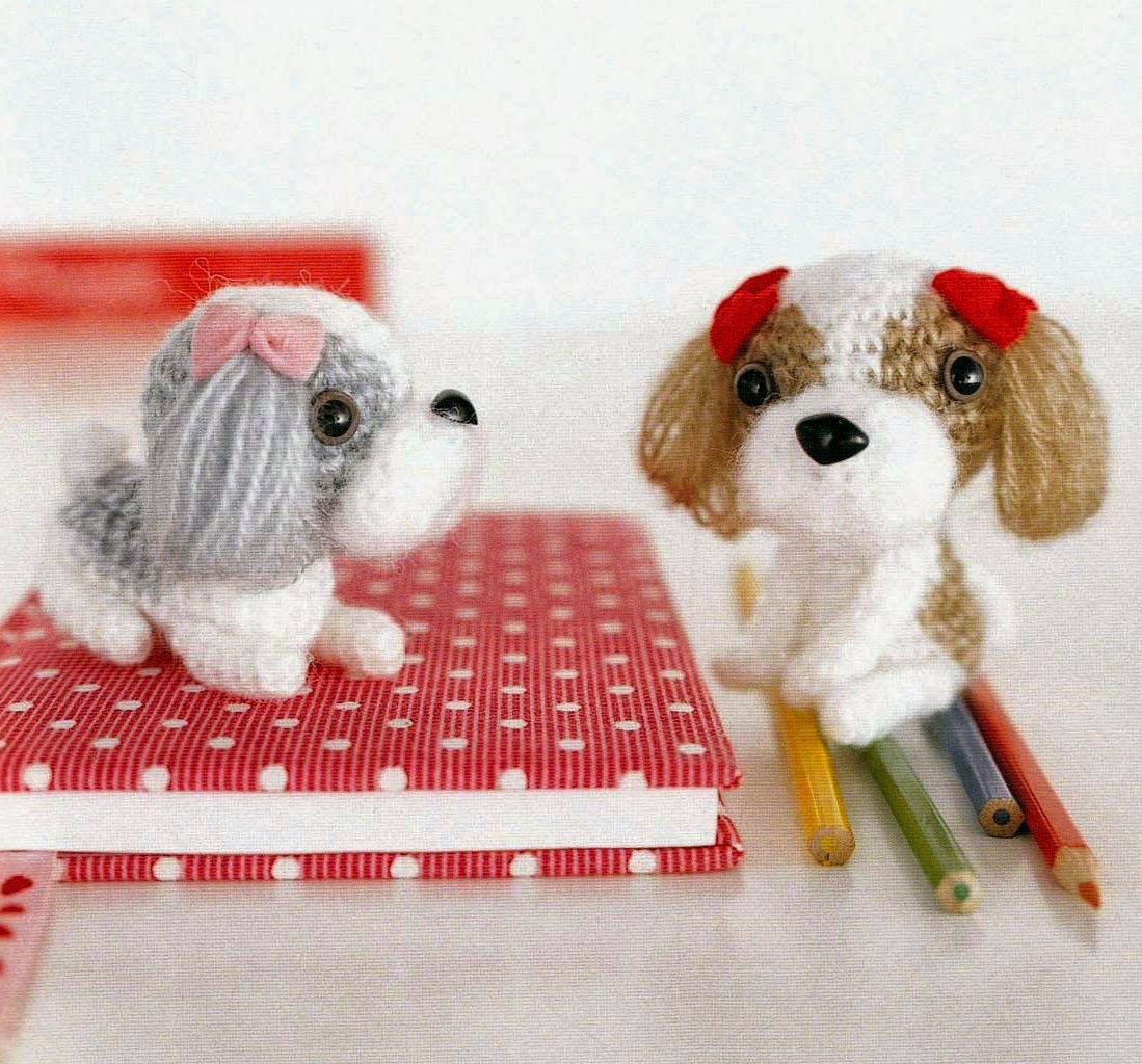 Free Knit Amigurumi Patterns : Free Japanese Craft Patterns: Shih Tzu Dogs Amigurumi Soft Toy Free Japanese ...