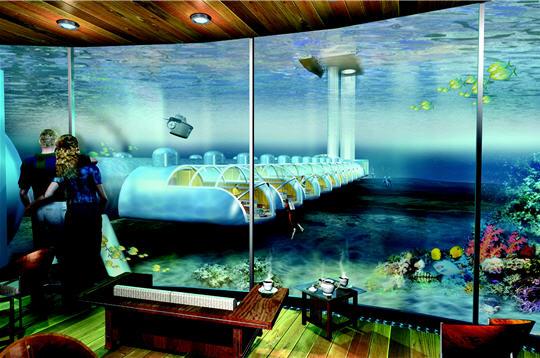 Hoteles novedosos islas fidji un lujo bajo el agua for Hoteles bajo el agua espana