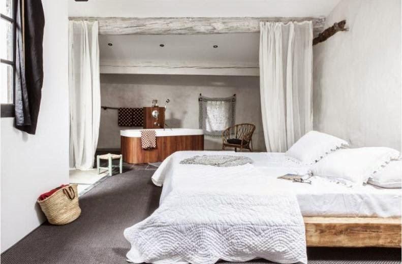 dormitorio rústico provenzal en blanco