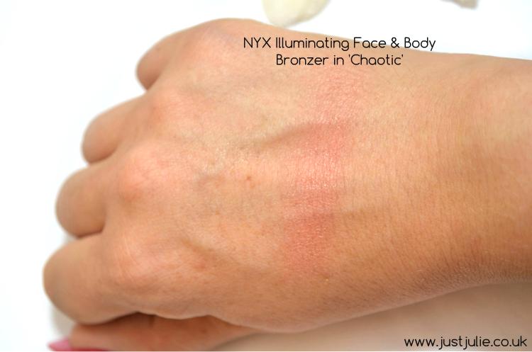 NYX Illuminating Face & Body Bronzer in 'Chaotic'