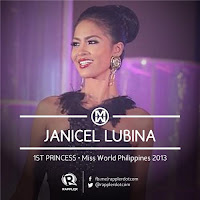 First Princess (1st Runner Up): #10 Janicel Lubina