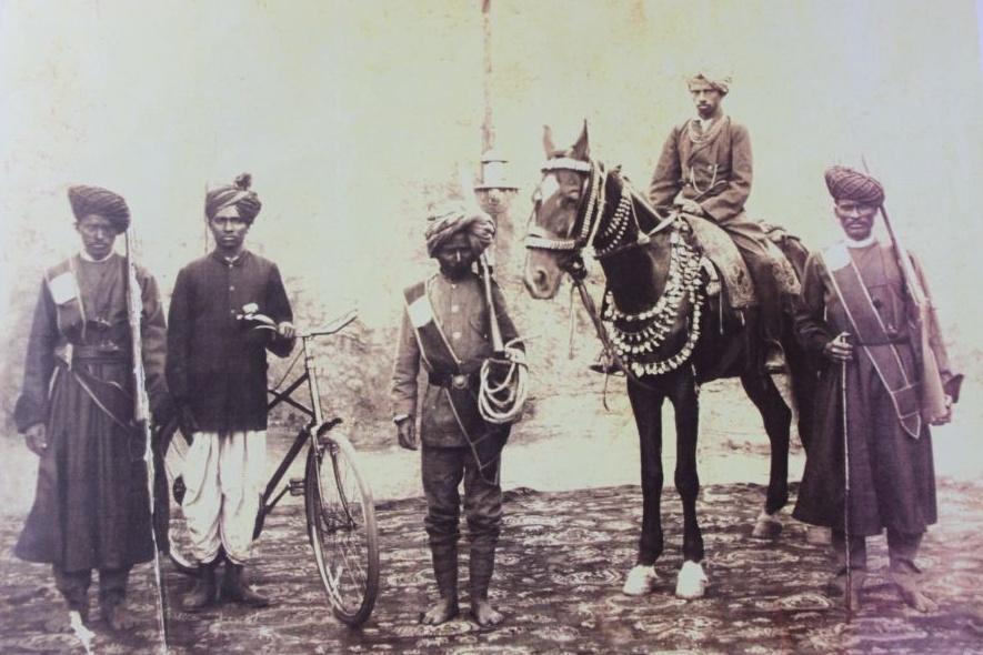 Gurappa Desai (on Horse) of Konnur, Karnataka - 1920s