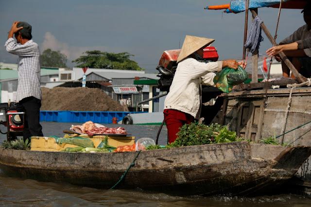 Mercado flotante, Delta del Mekong - Vietnam.