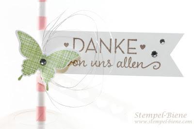 Stampin Up Von großer Bedeutung, Stampin Up Katalog 2015, Stampin Up Dankesgeschenk, Stampin Up Tischdeko, Stempel-Biene