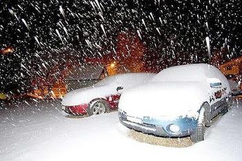 Det snöar - i Australien
