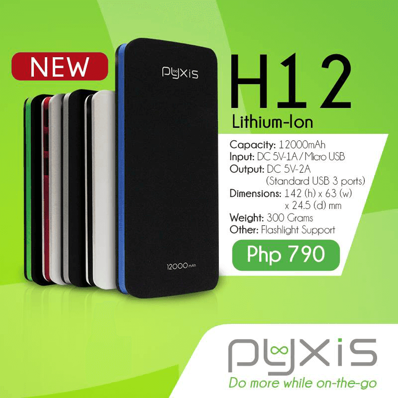 Pyxis H12 12,000 mAh battery