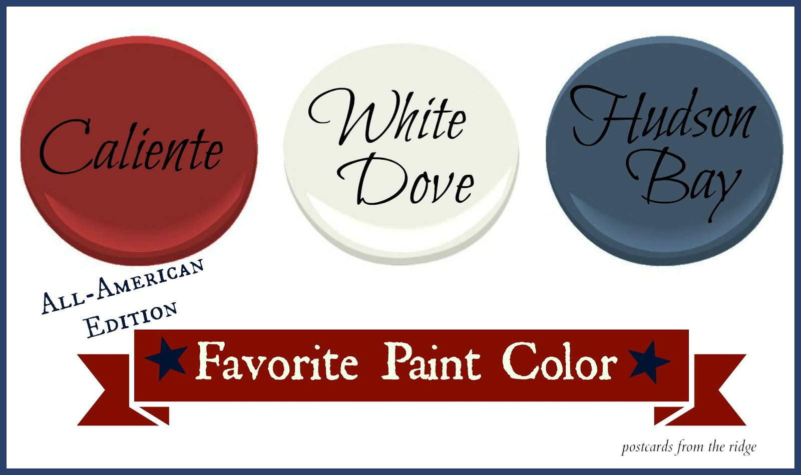 Favorite Paint Color All American Edition