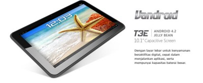Advan Vandroid T3X, Tablet Android Quad-core Plus TV Analog