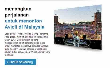 jalan-jalan untuk menonton Avicii di Malaysia