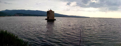 The windmill on the lagoon of Orbetello