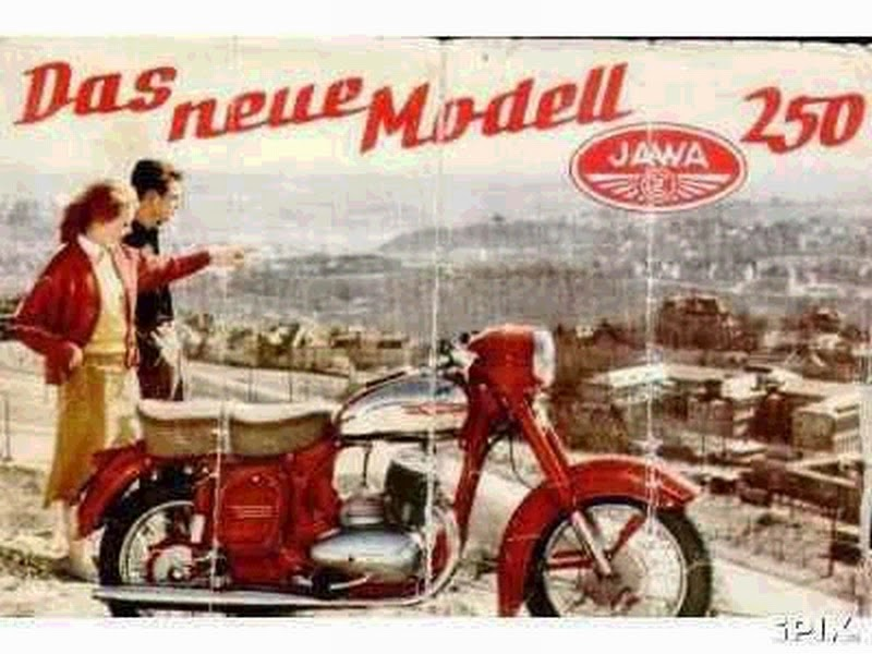 Plakat reklamowy Jawa, niemiecki.