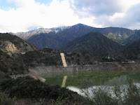 View northeast toward Glendora Mountain from Hwy 39 in San Gabriel Canyon and Morris Reservoir, Angeles National Forest