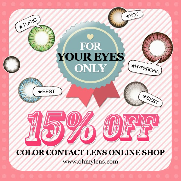 15% OFF, Selected Colored Contact Lenses at ohmylens.com