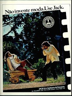 propaganda Jack - 1979. moda anos 70. propaganda decada de 70. reclame anos 70. Oswaldo Hernandez.