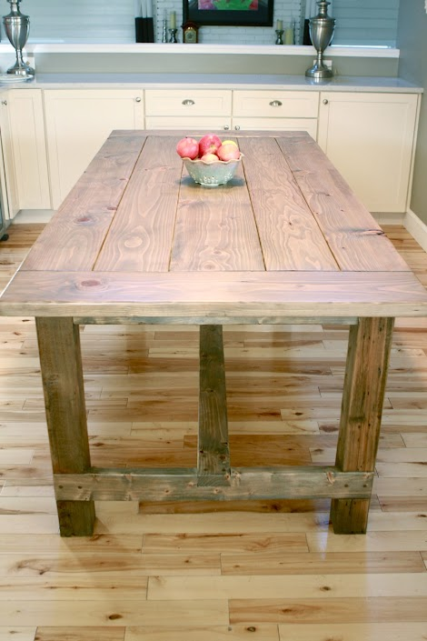 ana white | farmhouse table - updated pocket hole plans - diy projects