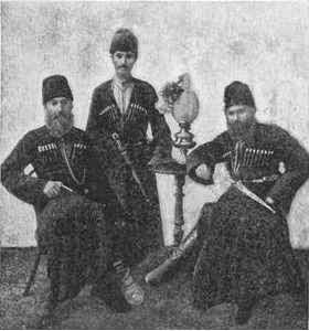 Armed Mountain Jewish men, c. 1900