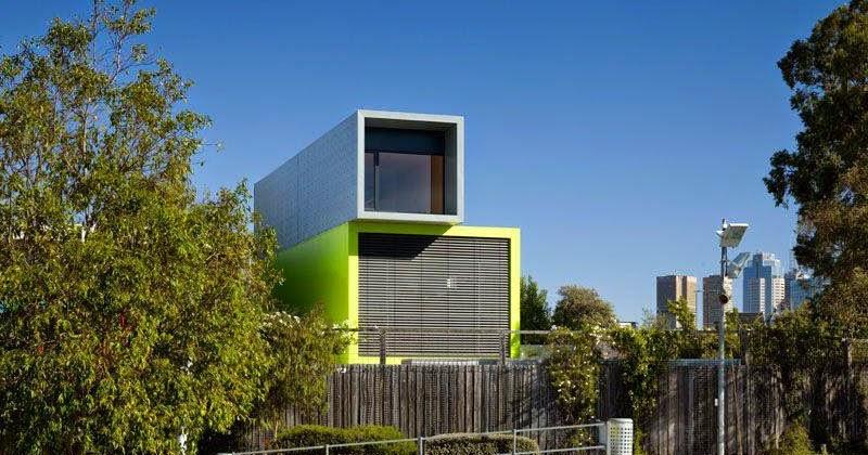 Arquitectura De Casas Casa Minimalista De Tubos A Colores En Australia