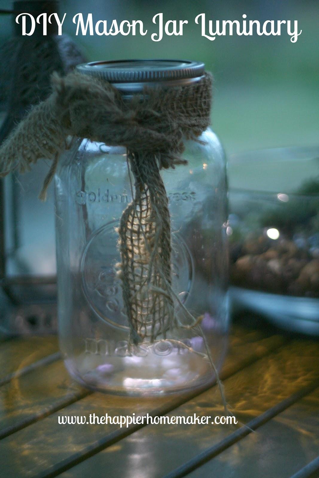 DIY Mason Jar Luminary | The Happier Homemaker