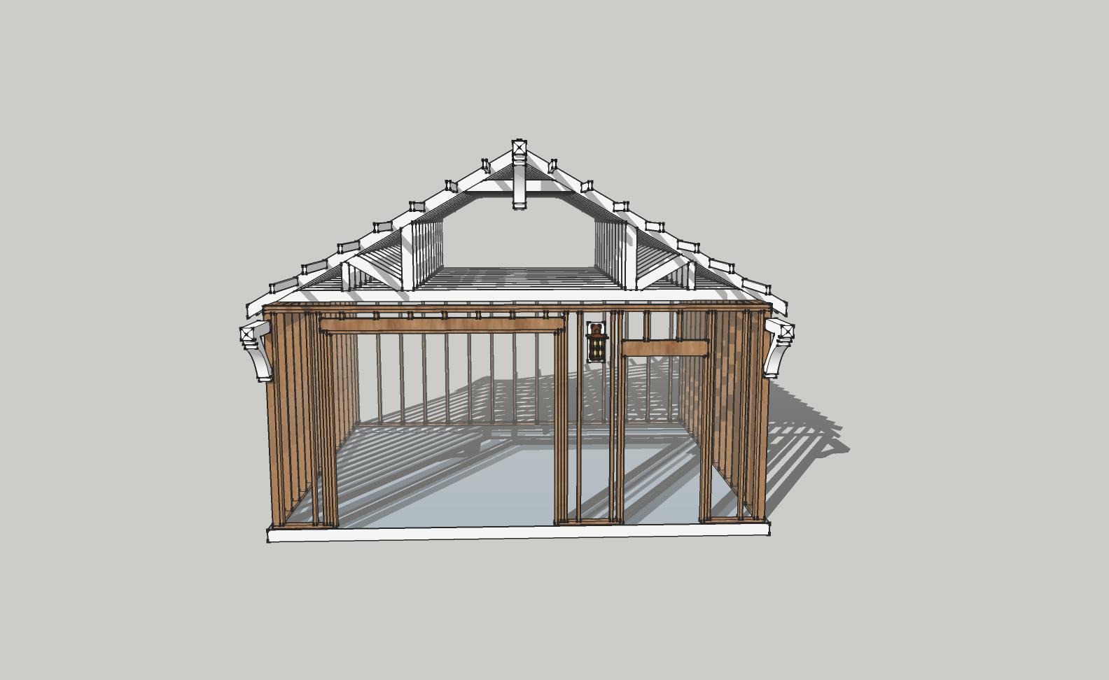 Laurelhurst craftsman bungalow sketchup rocks A frame house plans with garage
