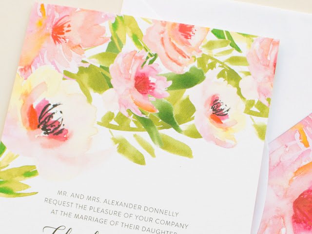 painterly wedding invites