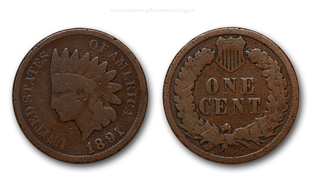 American old coin - One cent 1891