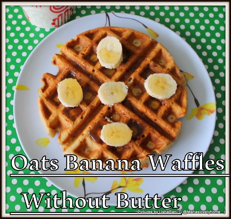 Banana Nut Waffles | Healthy Butter less Banana Oats Waffles | Banana ...