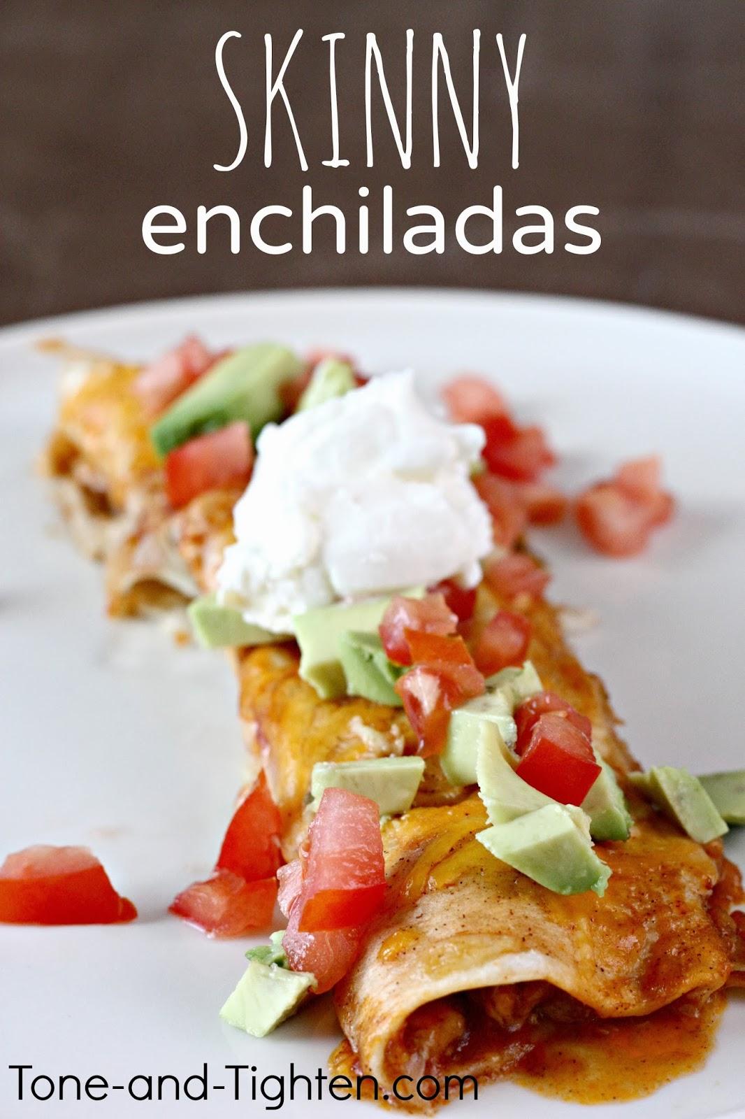 Slow Cooker Skinny Chicken Enchiladas Recipe | Tone and Tighten