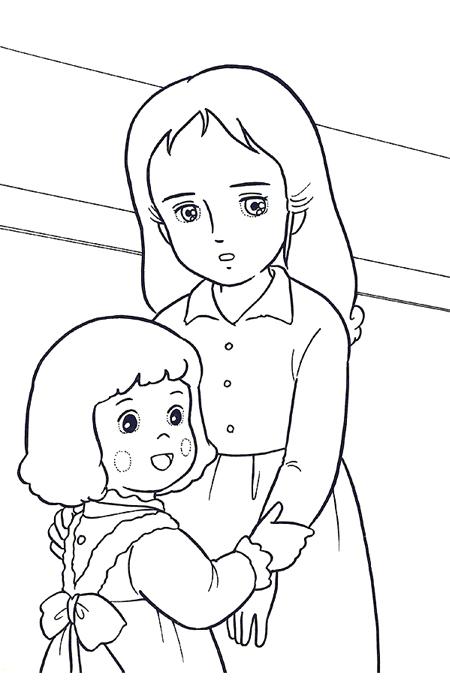 صورة بنت وأمها لتولين الأطفال مفرغة