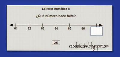 Numeración en la recta numérica II