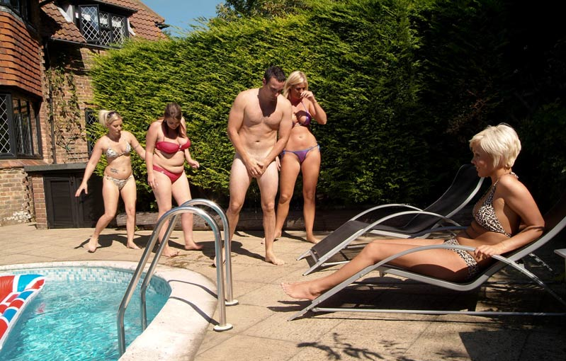 SUFFUSED NAKED: The Best of CFNM - Poolside