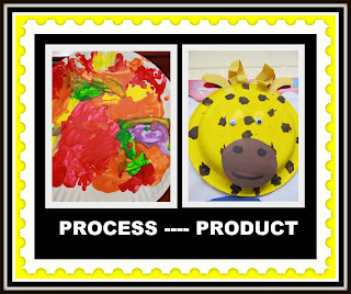 photo of: Process vs. Product in Children's Art at PreK+K Sharing