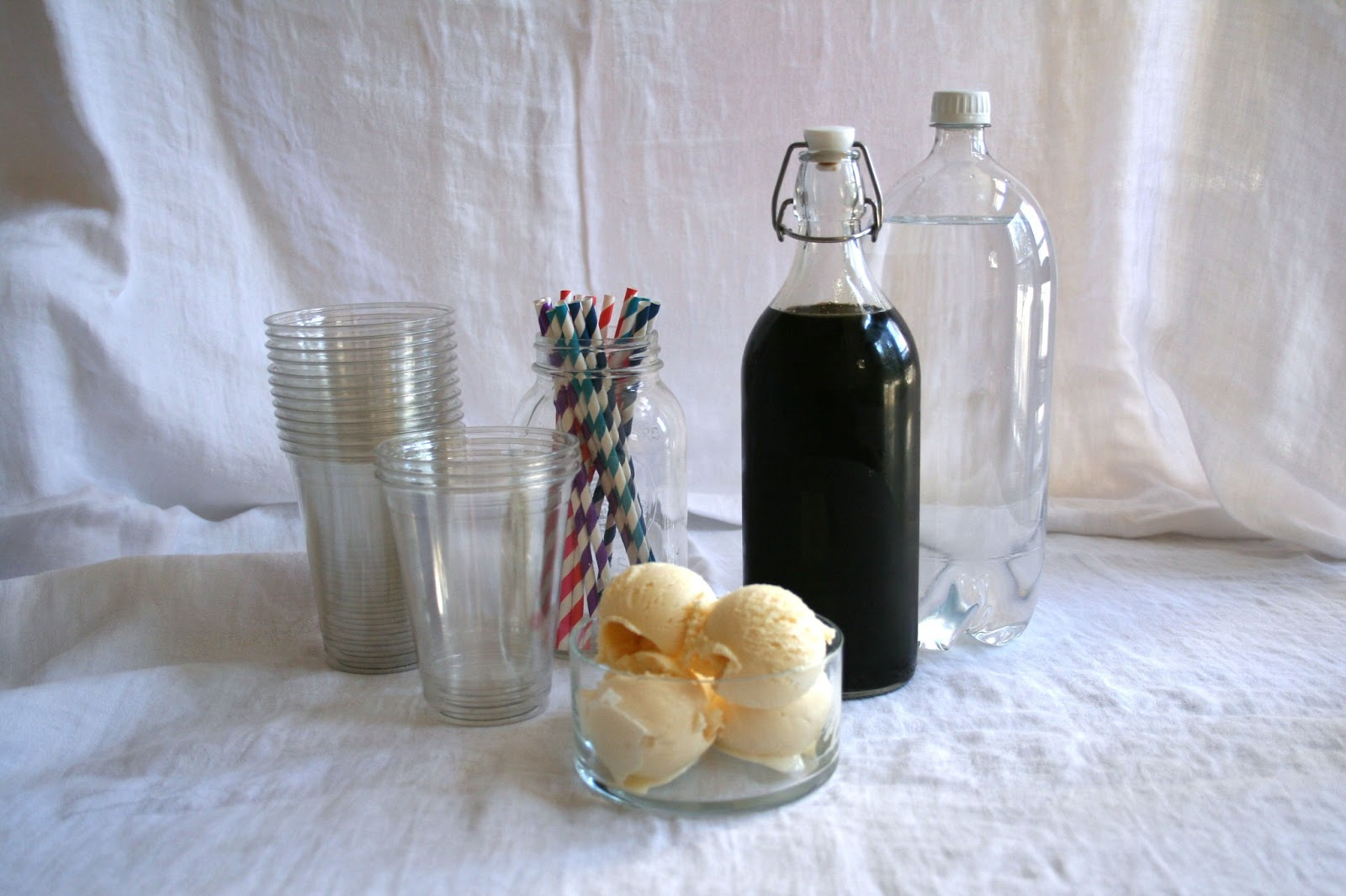... root beer floats with my homemade root beer. The floats were a hit