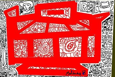 Tazón rojo