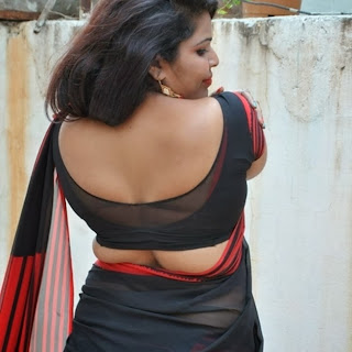 Actress+Sitara+Latest+Cute+Hot+Exclusive+Black+Transparent+Saree+Navel+Show+Photos
