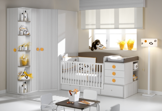 Habitaciones para bebes habitaciones infantiles - Habitaciones cuna convertible en cama ...