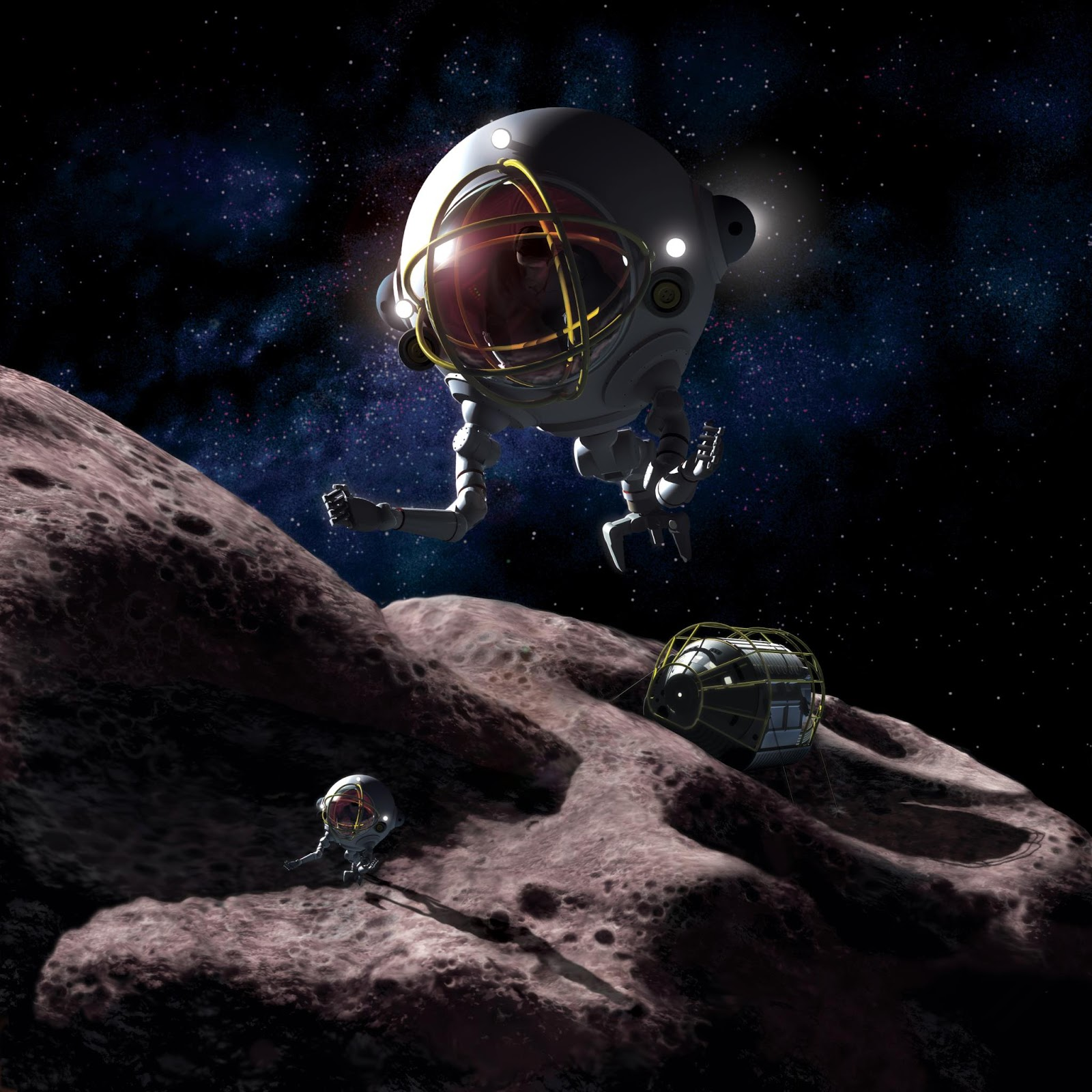 asteroid mining in space - photo #10