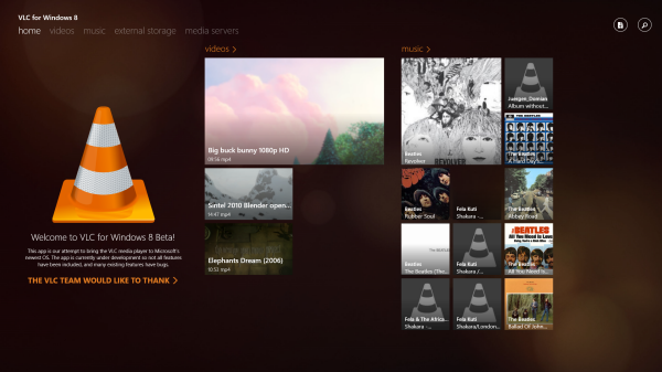 VLC Player For Windows 8 / RT Shown Off In Snap