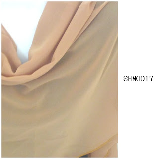 shawl halfmoon plain dull mustard